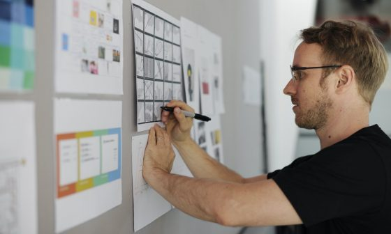 business owner trying to create a career development plan for employees