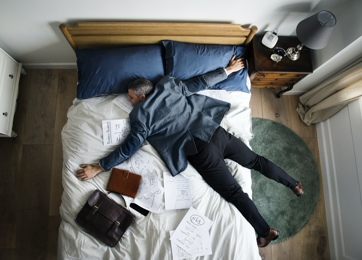 a small business owner suffering from burnout
